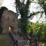 die Stadtmauer Ansicht vom Park aus