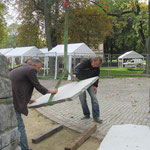 05.10.2011 die Steinkrusten müssen umgelegt werden