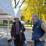 Besuch von der Geologischen Fakultät Berlin Professor Schröder