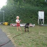 mit Kilian geht Bonnie gerne spazieren