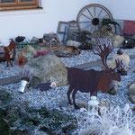 Unser rustikaler Steingarten im Frost-Kleid