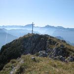 Geschafft! Gipfelkreuz auf´m Zwiesel