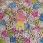 hoch hinaus  /Tempera auf Leinwand   1m x 1m  2008