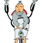 Drei-Augen-Fahrrad