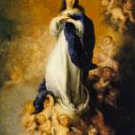 Tableau de Murillo - L'assomption de la Vierge - vers 1678
