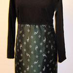 Kleid aus Jersey und Taft