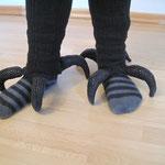 Füße Ara