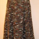 Wollrock mit Falten und Taschen