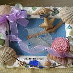 夏の思い出~香りの貝殻で作るコラージュ