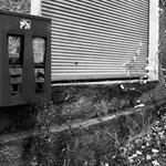 Kaugummiautomat und Schaufenster