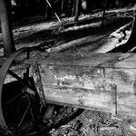 Alter Düngerstreuer im Wald