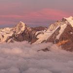 Sonnenuntergang auf dem Schilthorn BE