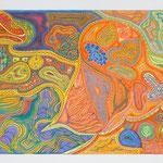 """Ricochet 70X100 cm; September 2008; Musik: """"Ricochet"""" von Tangerine Dream"""