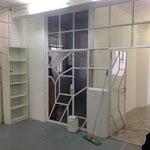 Ein Blick vom Gang ins Atelier