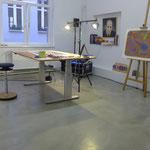 Hinten rechts wacht Jackson Pollock über mich und meine Arbeit.