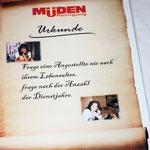 Müden Reinigung GmbH® Filialen, Bilder & Impressionen, Urkunde zum 30 Jubiläum
