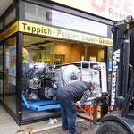 Müden Reinigung GmbH® Filialen, Bilder & Impressionen, Reinigungsmaschine Gabelstapler