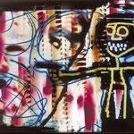 """""""PISTOLENMANN"""", Lichtmalerei auf Fotopapier, 100 x 120 cm, 1995"""