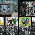 """""""KRITZKRATZ-CITY"""", Interaktive Installation, Ausschnitte, 2000"""
