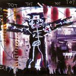 """""""KRANKENSCHWESTER"""", Lichtmalerei auf Fotopapier, 100 x 120 cm, 1995"""