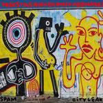 Wandmalerei, zur Veranstaltung Cityleaks Köln, 2012