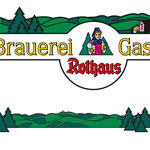 Panorama + Gasthaus Logo für Rothaus Brauerei, im bestehenden Rothaus Stil