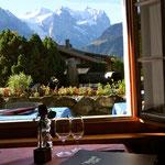 La vue du restaurant sur les Alpes Bernoises