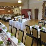 Tischform: Traditionell ca. 160 Personen, Hochzeit