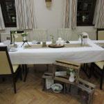Brauttisch im Vintage-Stil