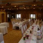 Hochzeit, ca. 120 Personen, Stühle mit Stuhlhussen