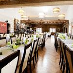 Tischform: Traditionell, ca. 160 Personen, Hochzeit