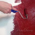 4) Загрунтуйте высохшую поверхность и нанесите яркую подложку