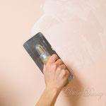 3) шёлк наносим мазками  с помощью декоративной кельмы