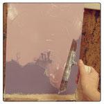 5) наносим декоративную штукатурку небольшим слоем