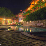 Another view of the pool at night