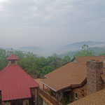 Misty Mountain Views from the Guesthouse Building