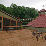 The upstairs deck - many weddings and commitment ceremonies take place here with mountain views!