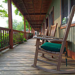 Relax in a rocking chair outside your room