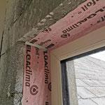window taping with standard window tape & sealant