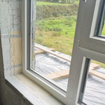 window taping in a new build with nZEB parameters