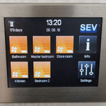 SEC Touch control unit for ductless ventilation