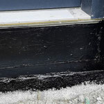 Detail of waterproofing for Triotherm+ as thermal threshold
