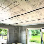 air tightness membrane installed in an ICF build