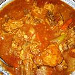 Hühner Curry mit Tomatensoße, Rezept im Buch: S. 180