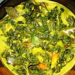 Spinat Curry, Rezept im Buch: S. 161