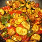 Auberginen Curry, Rezept im Buch: S. 121