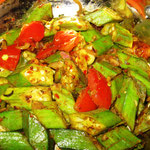 Okraschoten Curry, Rezept im Buch: S. 153