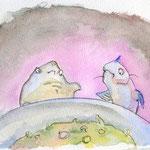 Max der Lachs und Jochen der Rochen