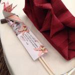 折り鶴のデコレーション