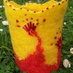 Vase bestickt